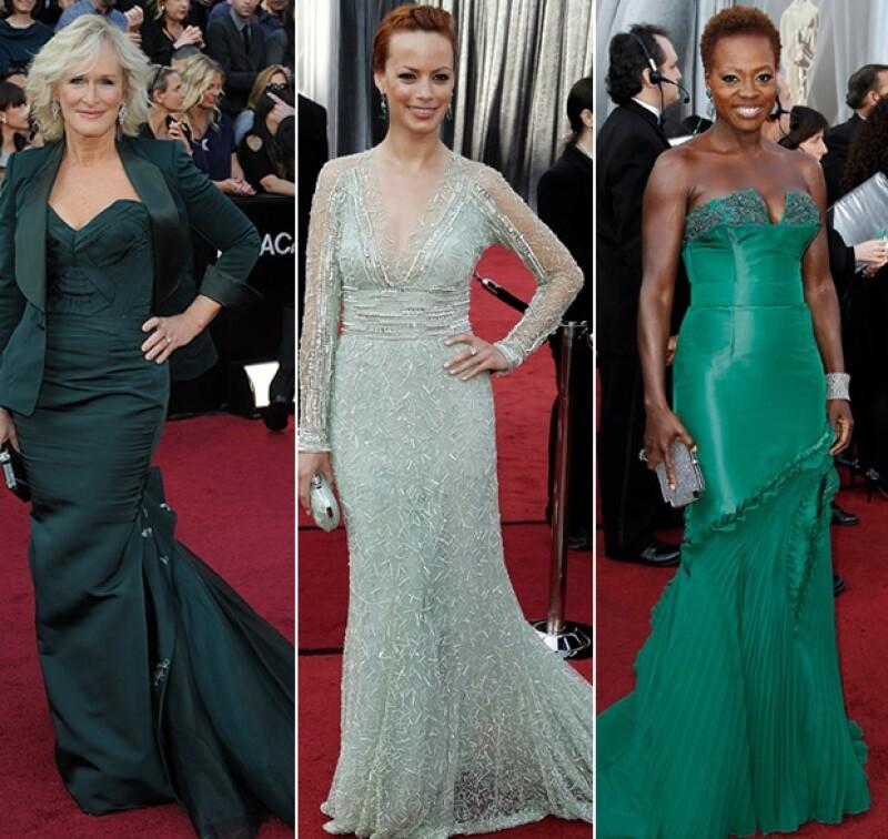 Los tonos claros como el blanco y el perla reinaron la noche del domingo, aunque el rojo y el azul no quedaron atrás. Demos un vistazo al `arcoiris´ que fue la alfombra roja del Oscar.