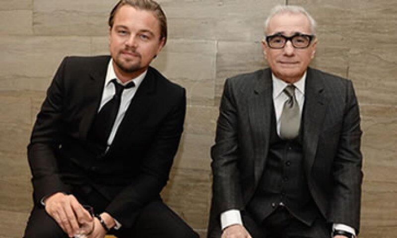 El cortometraje narra un encuentro de los actores con el director Martin Scorsese (der) para pelear por un papel en su película. (Foto: Getty Images)