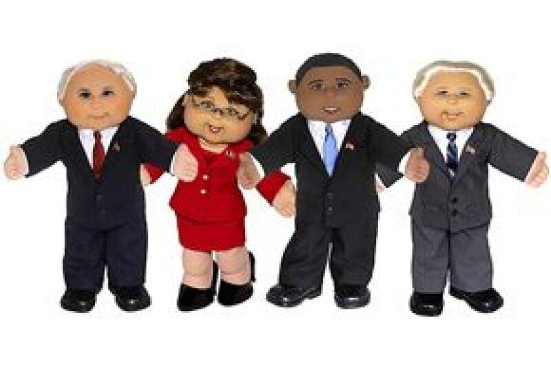 Crean muñecos a semejanza de los candidatos presidenciales y a la vicepresidencia de Estados Unidos.