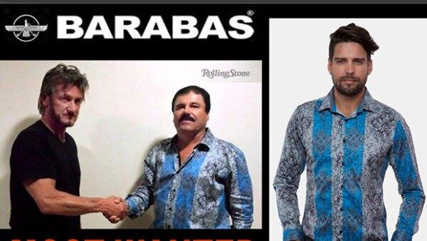Barabas, la tienda que vende las camisas que usó el capo en su entrevista para Sean Penn, asegura que están por agotarse en su local de Los Ángeles.