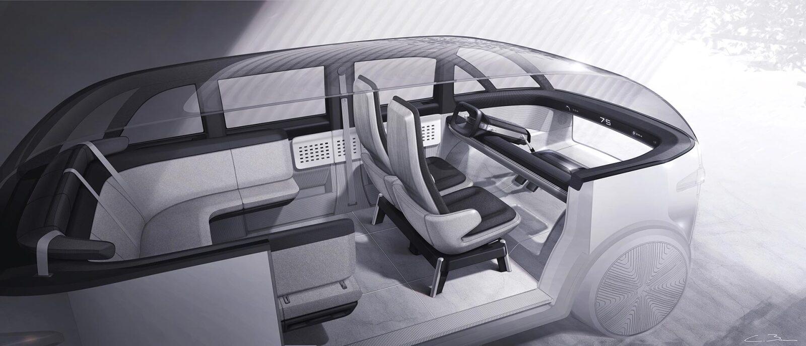 Diseño interior del vehículo desarrollado por Canoo