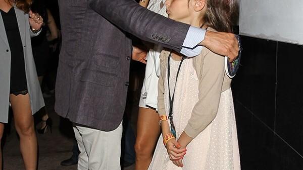 Tras asistir a los Kids´ Choice Awards, la actriz y el empresario se dirigieron a cenar en el Restaurante Beso en Hollywood acompañados por la pequeña Mariana.