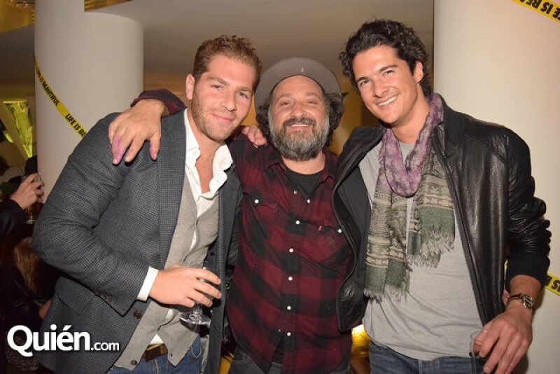 José Tawil,Mr. Brainwash y Alberto Slim.