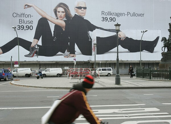 Giant H&M Billboard Advertises Karl Lagerfeld Collection
