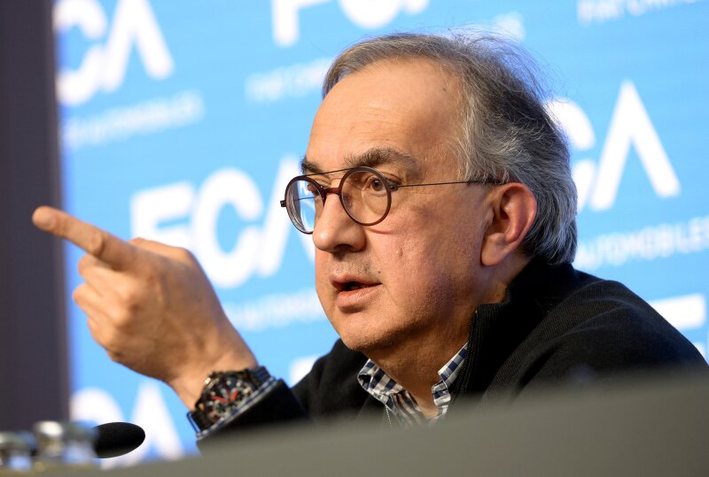 FILE PHOTO: Fiat Chrysler Automobiles CEO Sergio Marchionne speaks during a media conference in Balocco