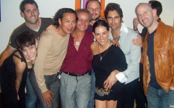 Claudia con Santiago Kneeland, Mariana Kneeland, Fausto santiago, José Luis Lizaldi papá de la festejada, Vicente Fregoso, Eamonn y Ari Rapoport