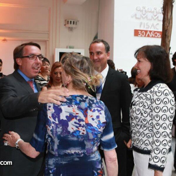 Emilio Azcárraga, Jaime Graña y Cecilia Moctezuma