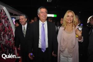 Angélica acompañó a Jorge a la apertura del Museo Interactivo de las Chivas del Guadalajara.