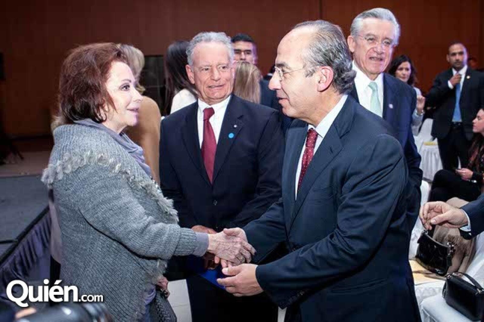 María Luisa Barrera de Serna y Felipe Calderón