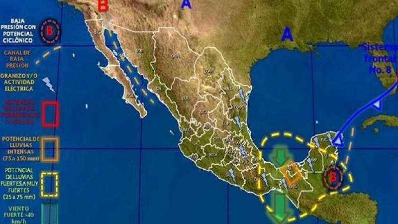 Mapa clima viernes 24 octubre