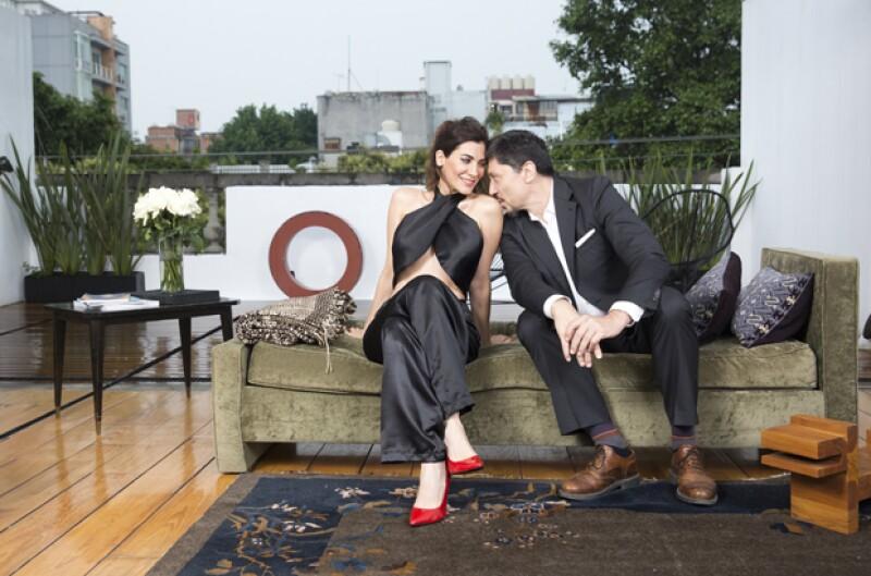 El Hotel La Valise atestiguó el romance entre esta pareja de actores españoles. Conjunto de Ceci por: Karen Pareti.