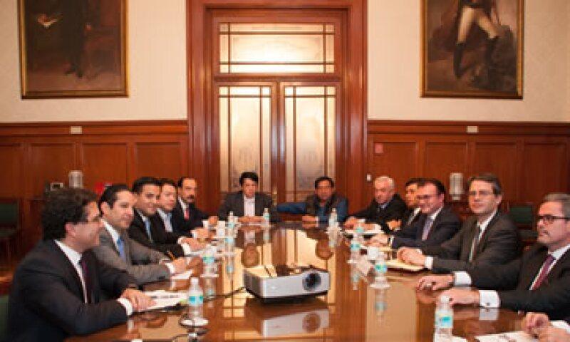 La reunión se dio a solicitud de los presidentes de las Comisiones de Hacienda de las Cámaras de Senadores y de Diputados. (Foto: Cortesía Secretaría de Hacienda )