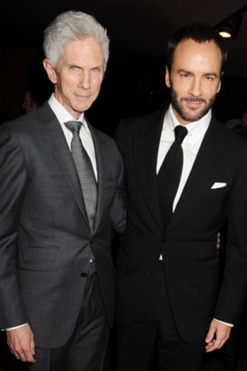 El diseñador contrajo nupcias con su pareja de hace 27 años, Richard Buckley con quien tiene un hijo llamado Alexander John Buckley Ford.