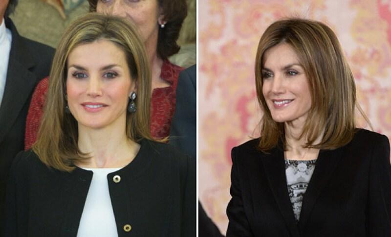 Con una apariencia más fresca, la reina de España muestra su nuevo look en un evento de caridad al lado de su esposo, Felipe VI.