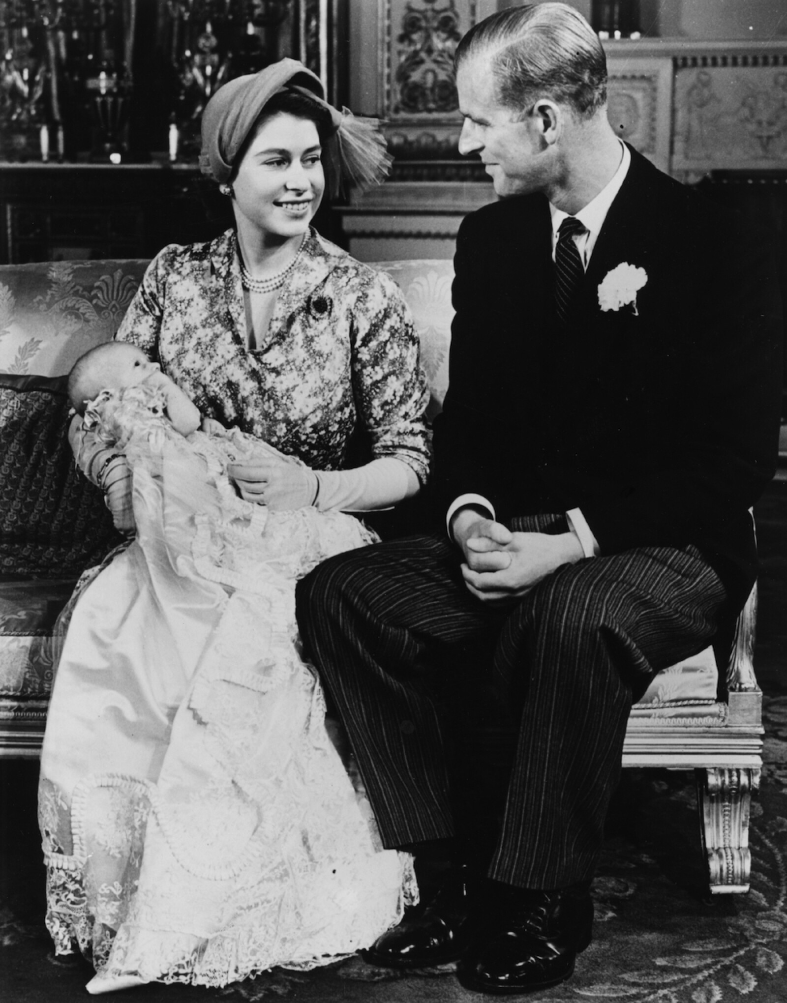 Princess Elizabeth, Prince Philip And Princess Anne