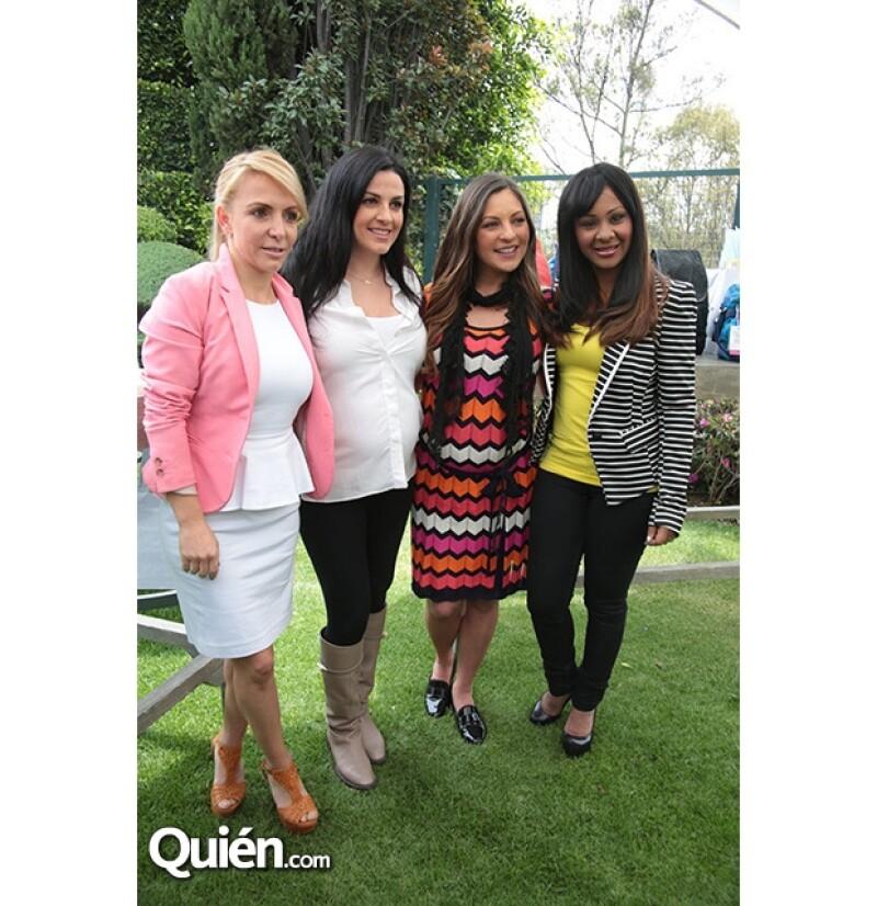 Por siempre amigas, Erika Zaba, Lidia Ávila, Mariana Ochoa y M'Balia Marichal.