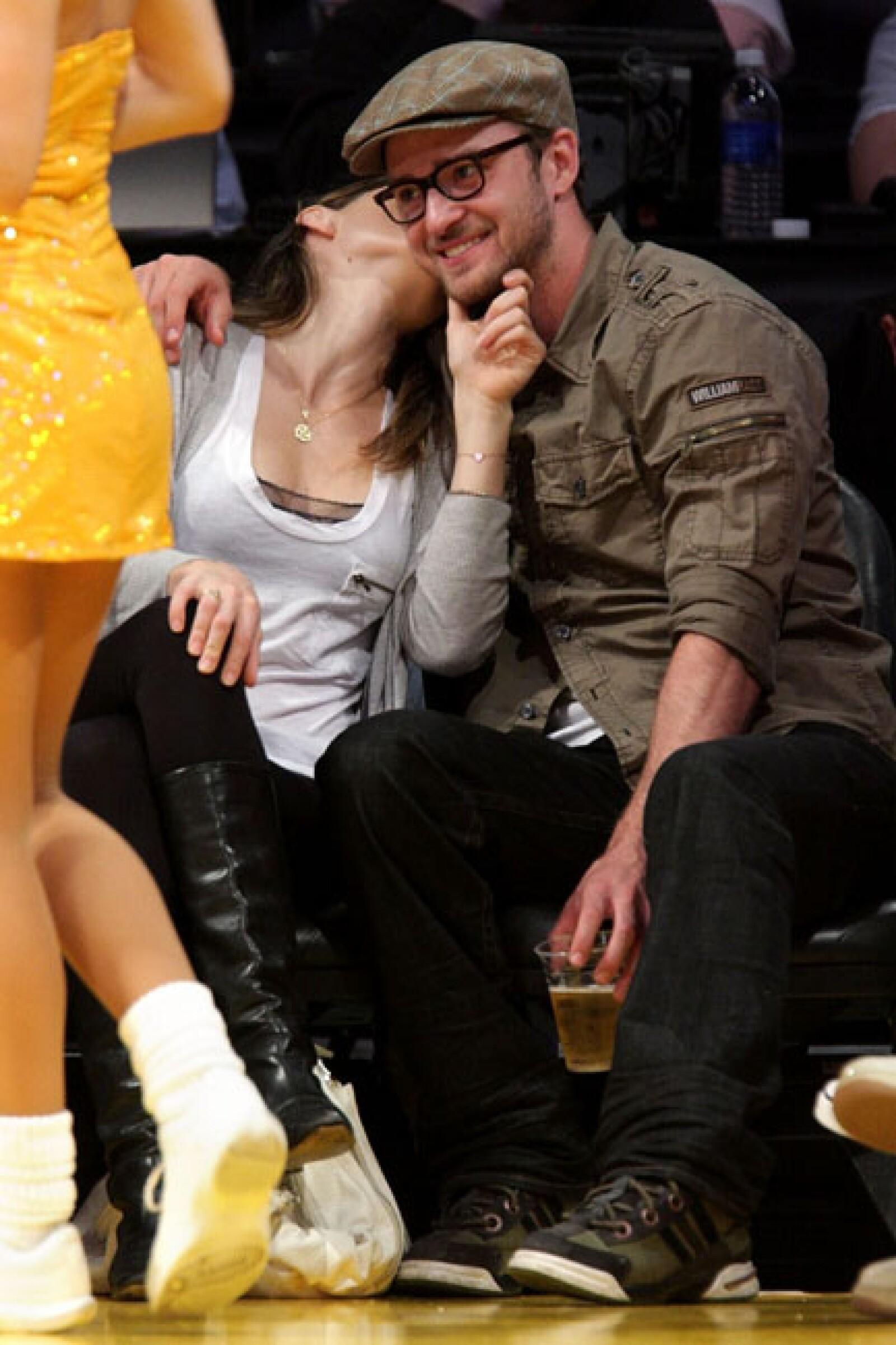 Timberlake, de 31 años, y Biel, de 30, han mantenido una relación intermitente desde el 2007, pero a principios de este año anunciaron su compromiso.