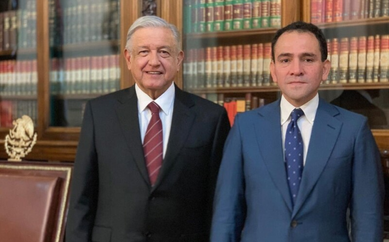 Andrés Manuel López Obrador y Arturo Herrera Gutiérrez