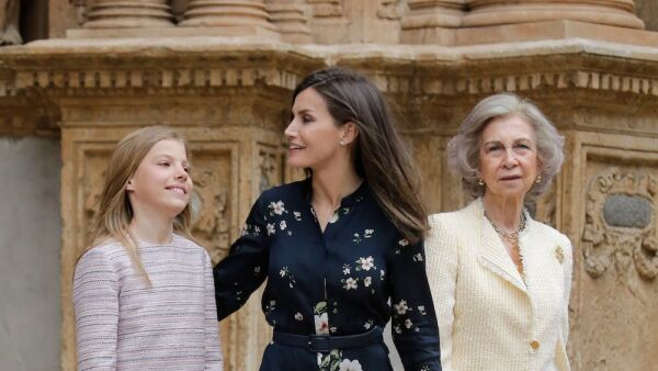 Spanish Royal Family attend mass, Madrid, Spain - 21 Apr 2019