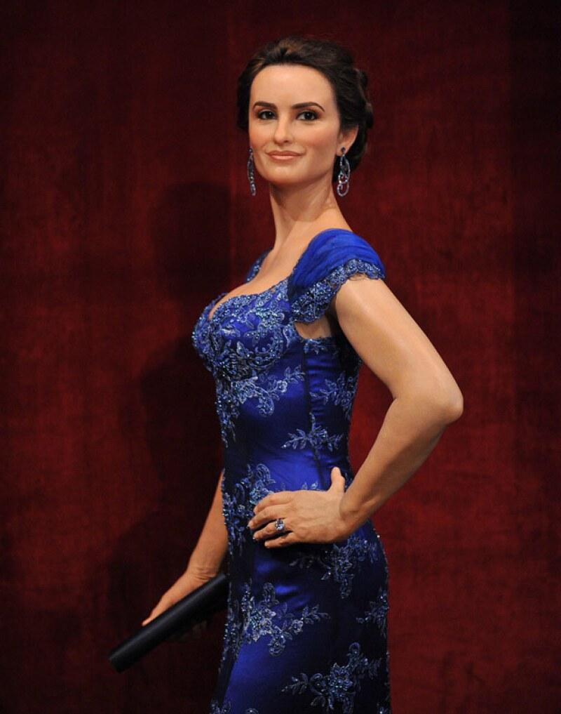 La figura de cera de la actriz española fue develada hoy en el Museo de Grévin de París.