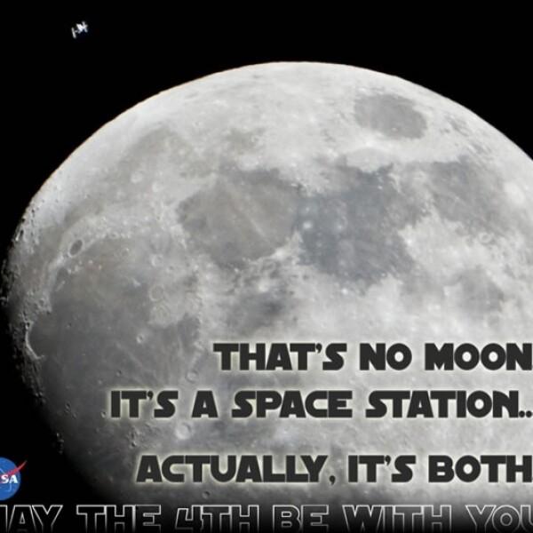 La NASA también se unió a los festejos de la Guerra de las Galaxias con varias imágenes que aludían a temas de la famosa saga de ciencia ficción