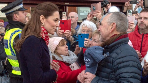 Kate Middleton, Denise Evans-Alford y Kevin Alford
