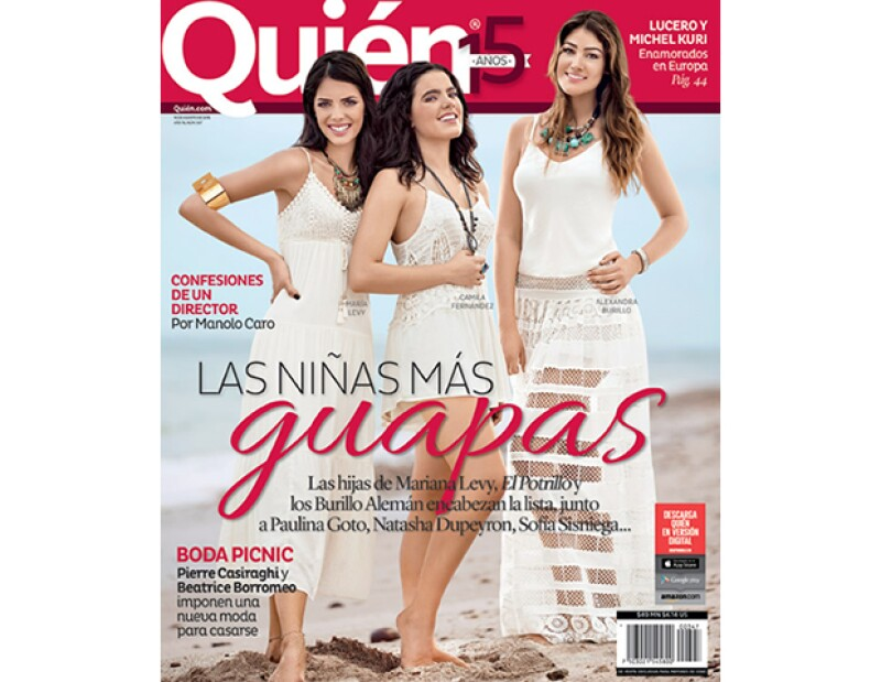 María Levy, Camila Fernández y Alexa Burillo en portada de la edición Las Niñas Más Guapas.