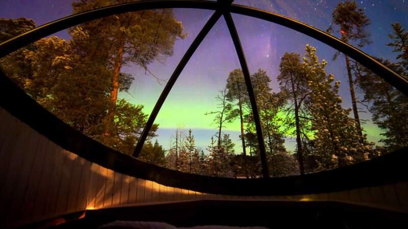 Aurora Bubbles, hoteles Nellim Wilderness (Finlandia)
