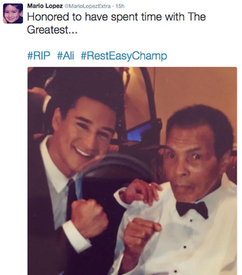 Mario Lopez también aprovechó Twitter para despedirse.