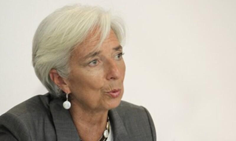 La directora gerente del FMI, Christine Lagarde, dijo que se han logrado progresos para detener los riesgos económicos.   (Foto: Reuters)