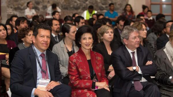 Alfonso Ventura, Magdalena Carral y Enrique Cepeda