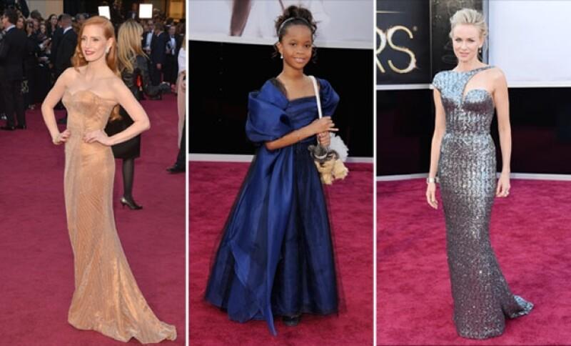 Jessica Chastain, Quvenzhane Wallis y Naomi Watts.