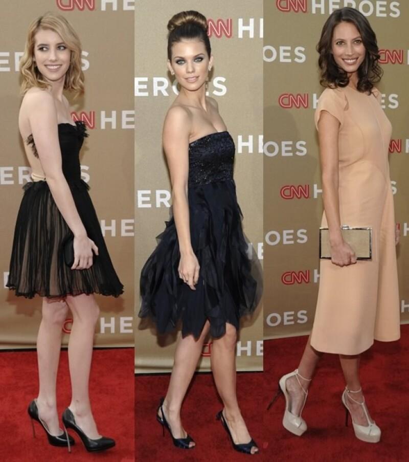 Emma Roberts, Annalynne Mccord y Christy Turlington.