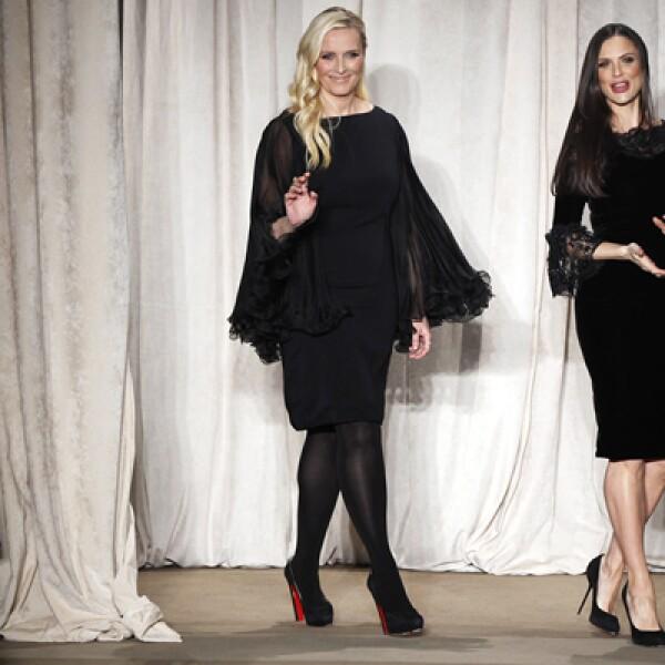 El color negro forma parte de los básicos de cualquier guardarropa. Las diseñadoras Georgina Chapman y Keren Craig saludan a los asistentes.