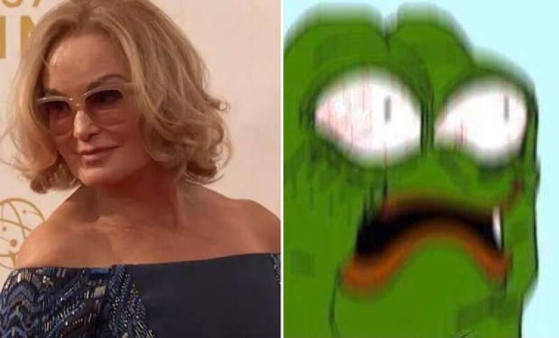 La actriz arribó a los Emmy y causó sensación en redes sociales por su cara.