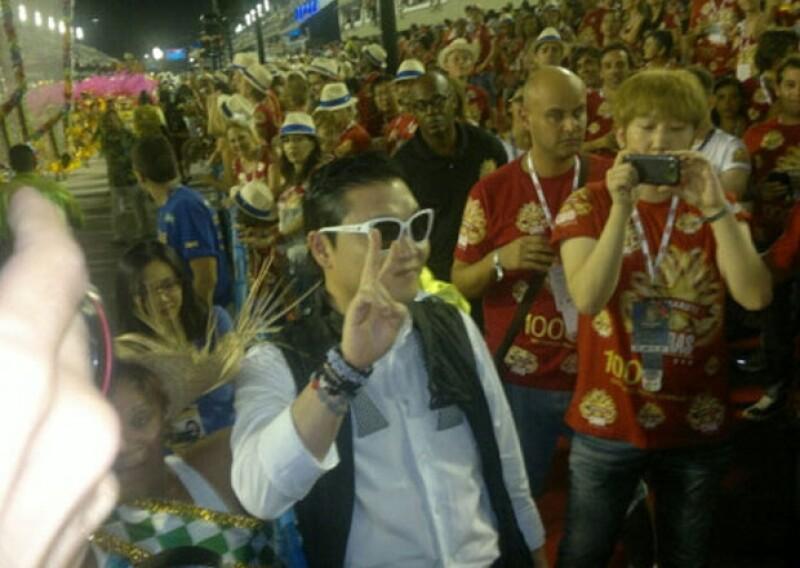 El cantante sur coreano estaba muy agradecido con la gente brasileña.