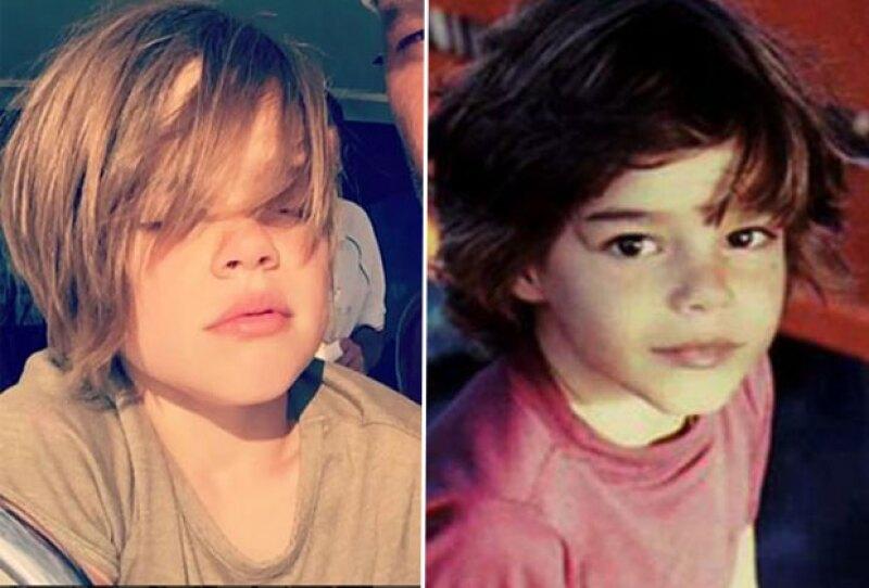 Aunque el cantante no aclaró si en esta foto aparece Matteo o de Valentino, no podemos negar que el niño es muy parecido a él cuando era pequeño.