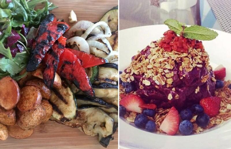 Bridget también comparte fotos de su alimentación, en la que destaca que es vegetariana.
