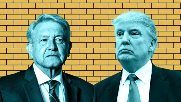 AMLO Trump Muro