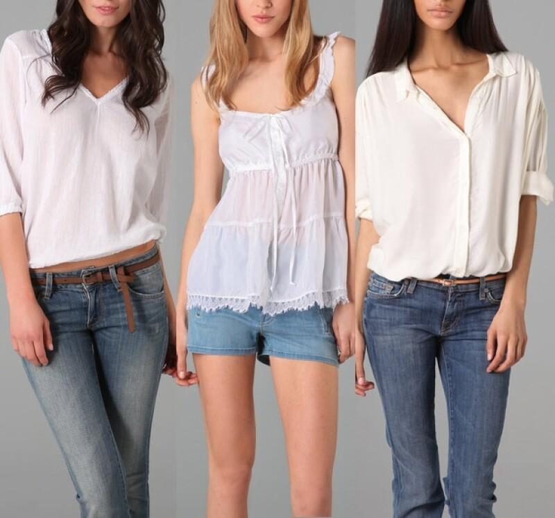 Ella Moss, Oonagh by Nanette Lepore y American Vintage tienen varios modelos de blusas blancas.