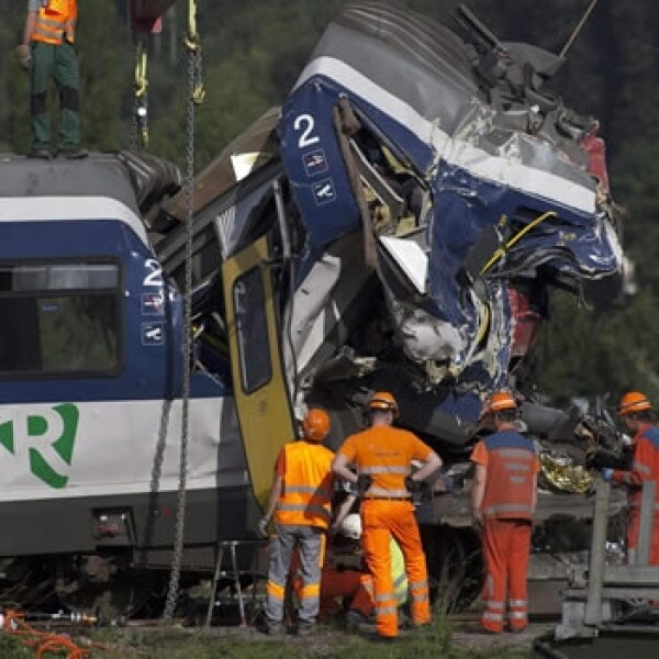 Accidente de trenes en Suiza