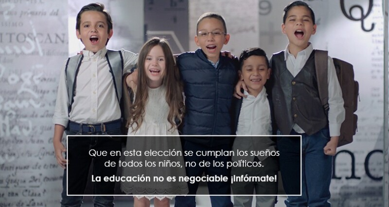 Mexicanos Primero piden a los candidatos presidenciales comprometerse con la educación.