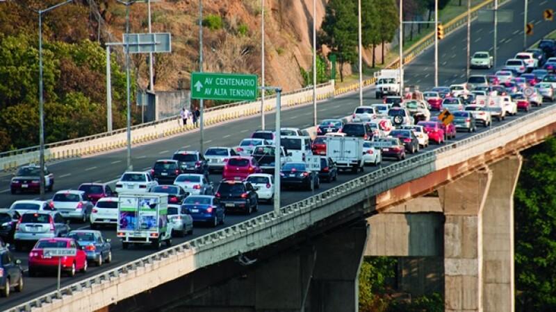 trafico vialidades santa fe puentes avenida de los poetas