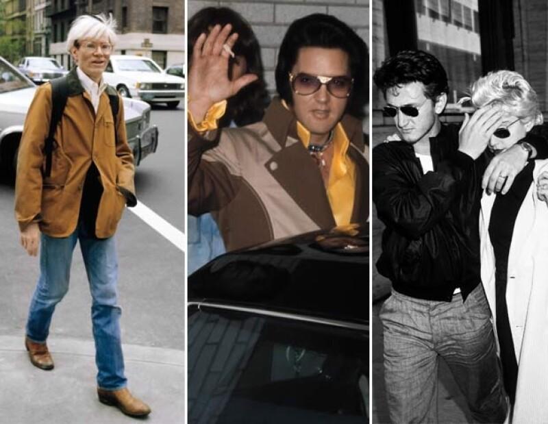 1) Andy Warhol. Cerca del Regency Hotel, el célebre pintor, el 1 de octubre de 1981, en la ciudad de Nueva York. 2) Elvis Presley. El legendario cantante del rock'n'roll al salir del Hilton Garden Inn del aeropuerto JFK, el 19 de julio de 1975, con destino al Coliseo de Nassau. 3) Madonna y Sean Penn. En la ciudad de Nueva York, a casi un año de haberse casado, la pareja se toma un descanso de los ensayos de la obra Goose and Tomtom para ir a comer. Teatro Mitzi E. Newhouse, en el Lincoln Ce