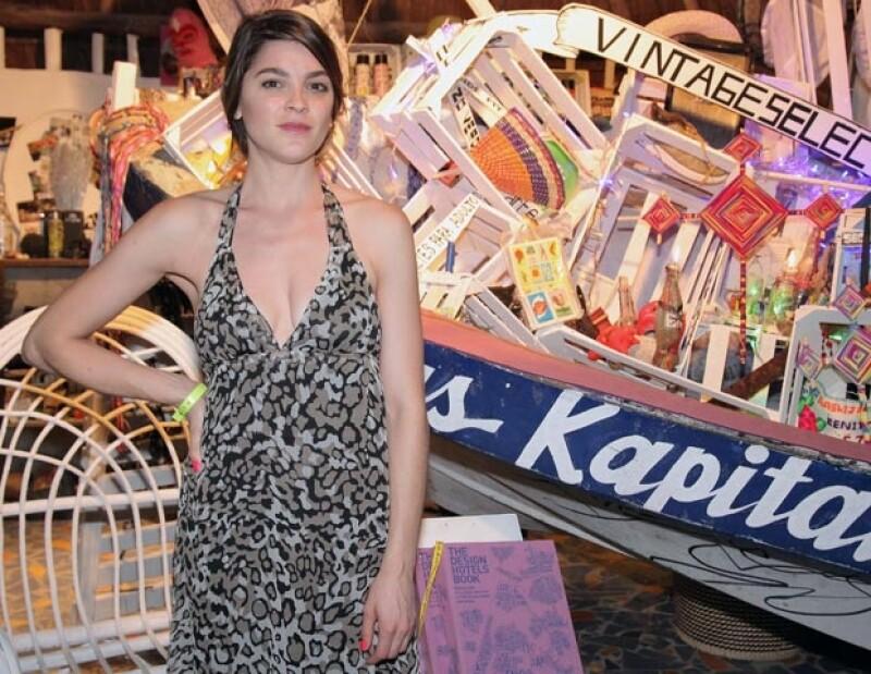 La actriz acudió a la primera edición del Riviera Maya Film Festival, plataforma en la que presenció el documental `Esperando al Tsunami´.
