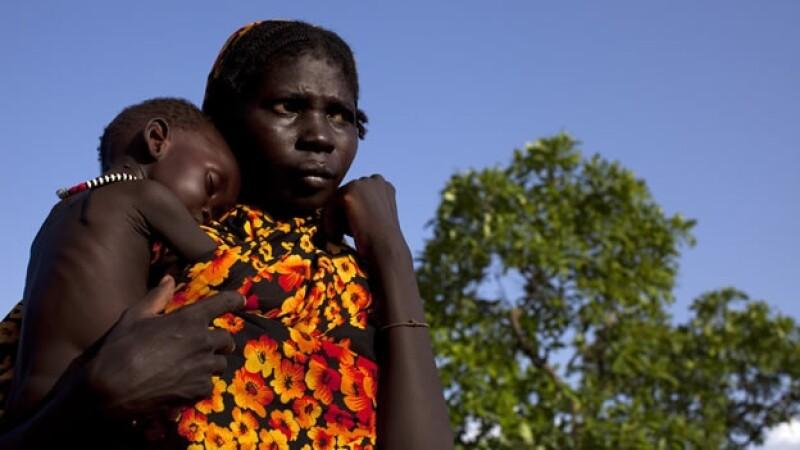 Madre pobre de África