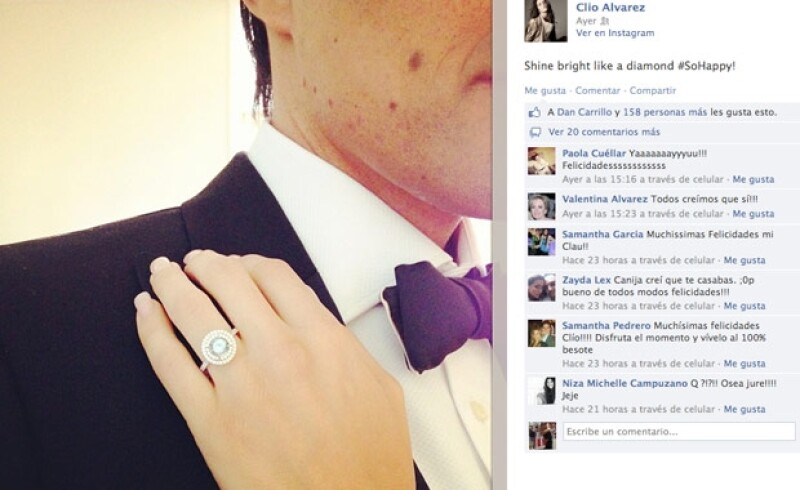 Claudia aseguró que el anillo fue parte de una sesión de fotos.