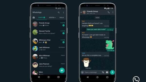 Modo oscuro de Whatsapp.