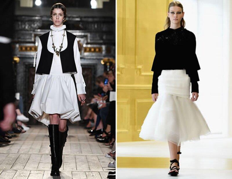 Estamos seguros que veremos algunos de los códigos que implementó en Valentino (izq.) a Christian Dior (der.)