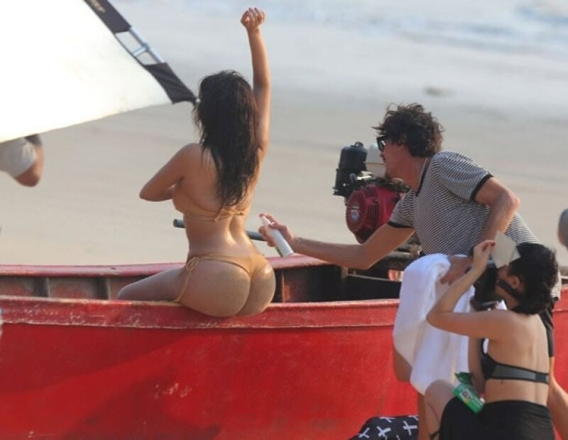Como siempre, el trasero de Kim Kardashian causa polémica.